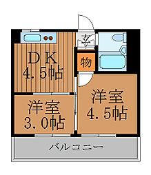 柿沢ハイム[4階]の間取り