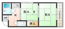 Kプラザ守口[3階]の間取り