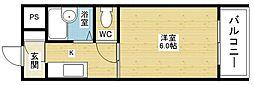アビタシオン豊新[5階]の間取り