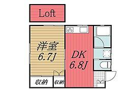 千葉県千葉市若葉区桜木2丁目の賃貸アパートの間取り