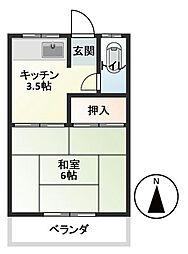 第三白樺荘[101号室]の間取り