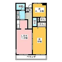 B−FLAT S棟[3階]の間取り