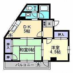 浅井マンション[301 号室号室]の間取り