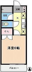 野崎ハイツI[103号室]の間取り