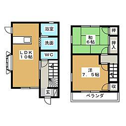 [テラスハウス] 静岡県菊川市赤土 の賃貸【/】の間取り