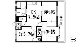 プラビーラコート5[1階]の間取り