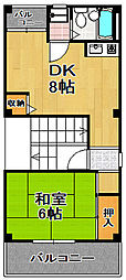 ハレクラニーヤハタ[4階]の間取り