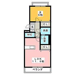 Vita Centro[1階]の間取り