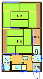 長崎県長崎市西坂町の賃貸アパートの間取り