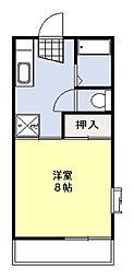 エクセレントベルA[1階]の間取り