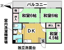 愛知県名古屋市昭和区広路町字石坂の賃貸マンションの間取り
