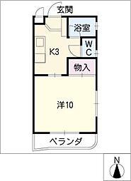 池園シティマンション[4階]の間取り