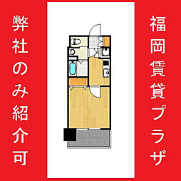 サヴォイ箱崎邸園 3階1Kの間取り