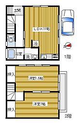 [テラスハウス] 埼玉県ふじみ野市築地2丁目 の賃貸【/】の間取り