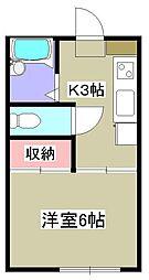 ラプラス鶴川[1階]の間取り