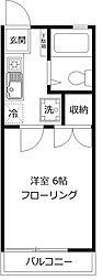 大道坂ハイツ[1階]の間取り