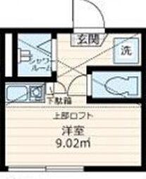 東京都江戸川区南小岩6丁目の賃貸アパートの間取り