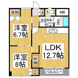 松本北澤ビル[3階]の間取り