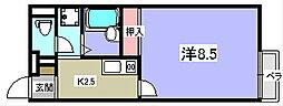 レオパレスレオネクストトランクイル[2階]の間取り