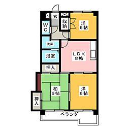 シャトーマスヒコ[7階]の間取り