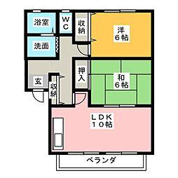 ポレール B[1階]の間取り
