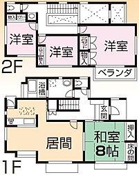 [一戸建] 千葉県市原市泉台2丁目 の賃貸【/】の間取り