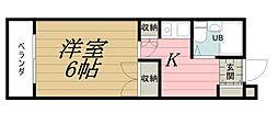 千葉県千葉市中央区椿森5丁目の賃貸マンションの間取り