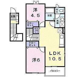 メゾン・ド・Kei[0201号室]の間取り