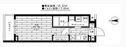 ステージグランデ蒲田II bt[405kk号室]の間取り