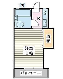ウエストコート新浦安[2階]の間取り
