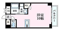 メゾンド銀山 9階ワンルームの間取り