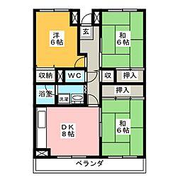 リバーサイド鎌倉[3階]の間取り