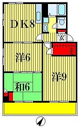 レジオン松戸[1階]の間取り