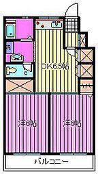 コープ領家マンション[4階]の間取り