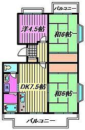 須賀第10マンション[3階]の間取り