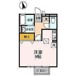 クレール姫山[1階]の間取り