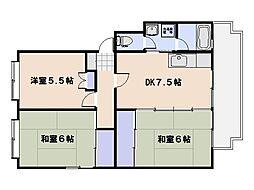 第2仁井田マンション[305号室]の間取り