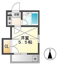 愛知県名古屋市天白区一つ山5の賃貸アパートの間取り