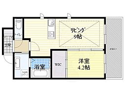 Osaka Metro御堂筋線 江坂駅 徒歩3分の賃貸マンション 11階1LDKの間取り