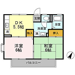 コート早宮B[2階]の間取り