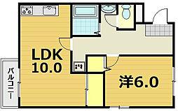 第44長栄ロイヤルコーポ瀬田[3階]の間取り