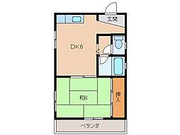 平田コーポ[2階]の間取り