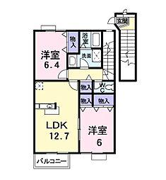 ハウスアイII[2階]の間取り