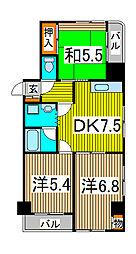 新田第9ビル[601号室]の間取り