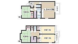 [タウンハウス] 愛知県名古屋市名東区大針3丁目 の賃貸【/】の間取り