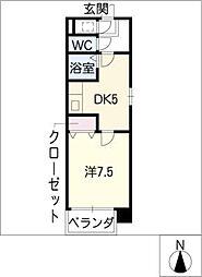燦新町[5階]の間取り