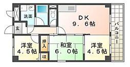 キャトルセゾン[4階]の間取り