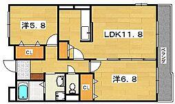 グランジュテ[2階]の間取り