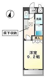 愛知県稲沢市下津穂所1の賃貸アパートの間取り