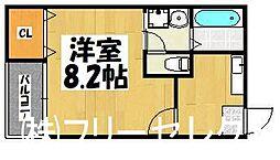 福岡県福岡市博多区三筑1丁目の賃貸アパートの間取り